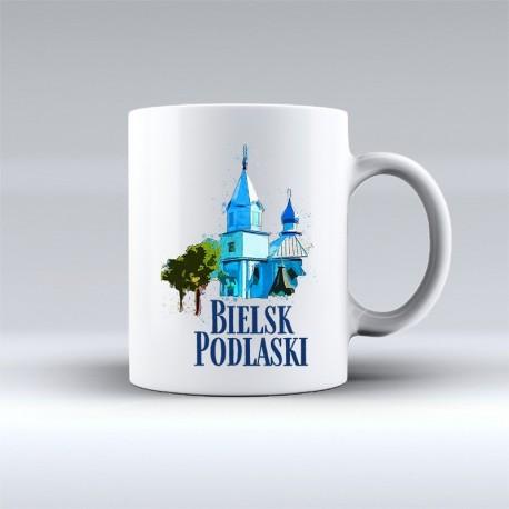 kubek Bielsk Podlaski Cerkiew św Michała akwarela