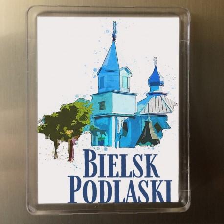 magnes Bielsk Podlaski Cerkiew św Michała akwarela