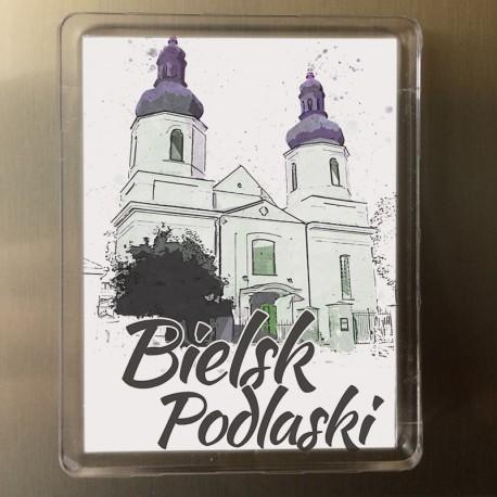magnes Bielsk Podlaski kościół NMP akwarela