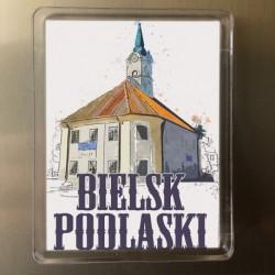 magnes Bielsk Podlaski ratusz akwarela