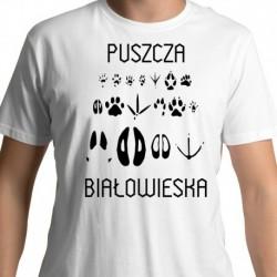 koszulka Puszcza Białowieska ślady zwierząt
