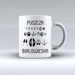 kubek Puszcza Białowieska ślady zwierząt