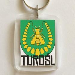 brelok herb gmina Turośl