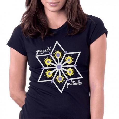 koszulka czarna jasna gwiazda podlaska