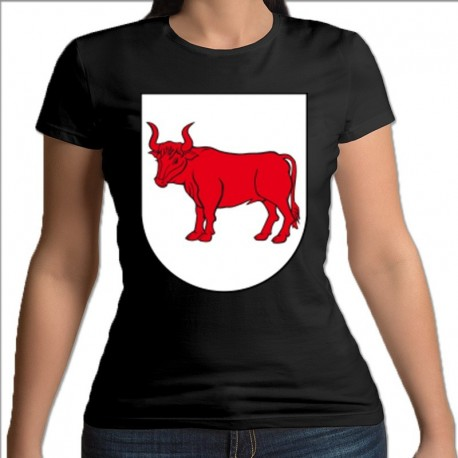koszulka czarna damska BielskPodlaski