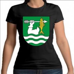 koszulka czarna damska gmina Giby