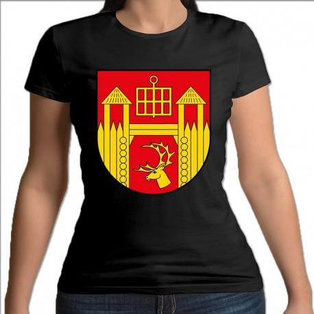 koszulka czarna damska gmina Łomża