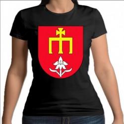 koszulka czarna damska gmina Skórzec