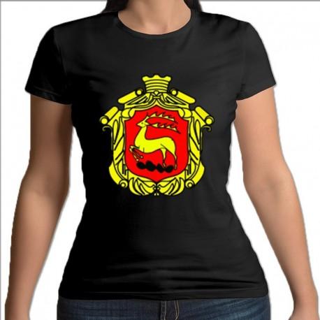 koszulka czarna damska Łomża