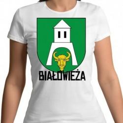 koszulka damska herb gmina Białowieża
