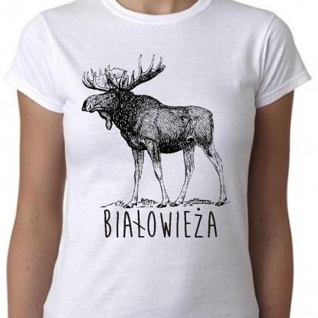 koszulka białowieża łoś
