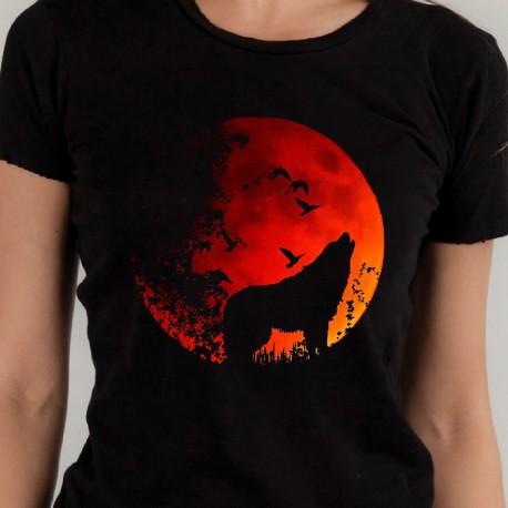 koszulka czarna pełnia