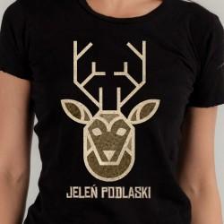 koszulka czarna jeleń podlaski