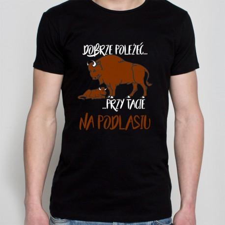 koszulka czarna dobrze poleżać na Podlasiu