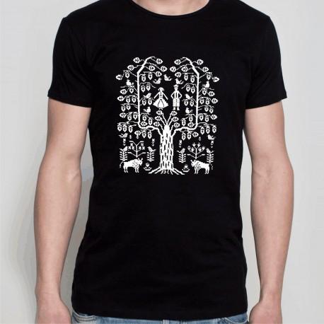 koszulka czarna z podlaskim drzewem czarna