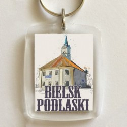 brelok Bielsk Podlaski ratusz akwarela