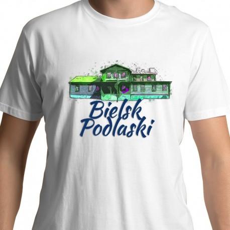 koszulka Bielsk Podlaski dworek Smulskich akwarela