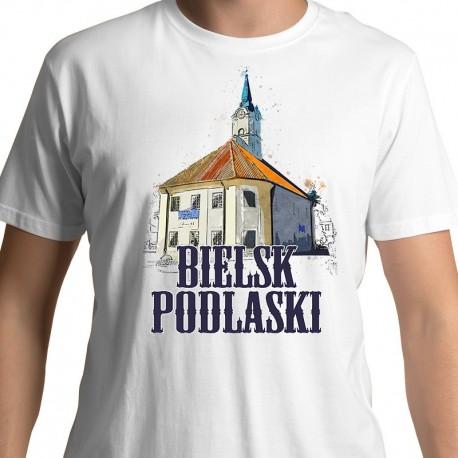 koszulka Bielsk Podlaski ratusz akwarela